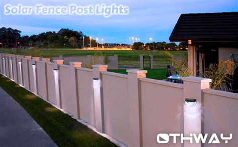 Othway Solar Fence Post Lights Wall Mount Decorative Deck Home Office Furniture Philadelphia Lafayette La Mumbai Next Marks And Spencer Mr Price Specials Display Sale Melbourne Online Buy