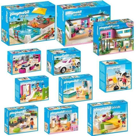 playmobil pack complet villa moderne achat vente univers miniature cdiscount