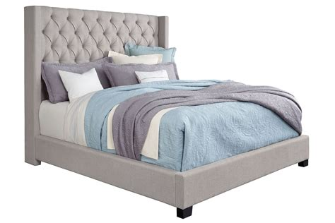 Westerly Queen Bed In Gray  Mor Furniture For Less