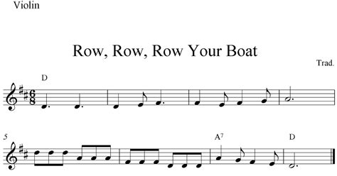 Row Row Row Your Boat Notes Piano by Row Row Row Your Boat Free Easy Violin Sheet Music Notes