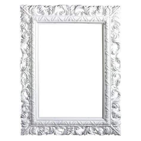 d 233 co cadre baroque angulaire blanc 65 x 50 cm d 233 coration chez decowoerner