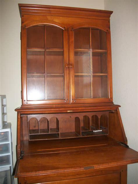 antique drop front desk with hutch decorative
