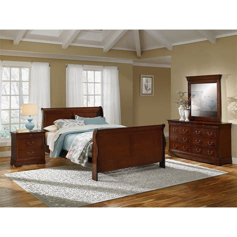 neo classic 6 king bedroom set cherry american signature furniture