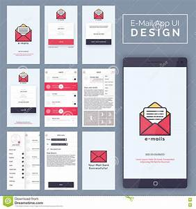 Mobile Sign In And Login UI, UX Design. Royalty-Free Stock ...
