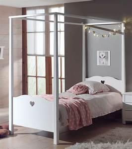 Vorhang über Bett : himmelbett amori liegefl che 90 x 200 cm wei kinder jugendzimmer betten ~ Markanthonyermac.com Haus und Dekorationen