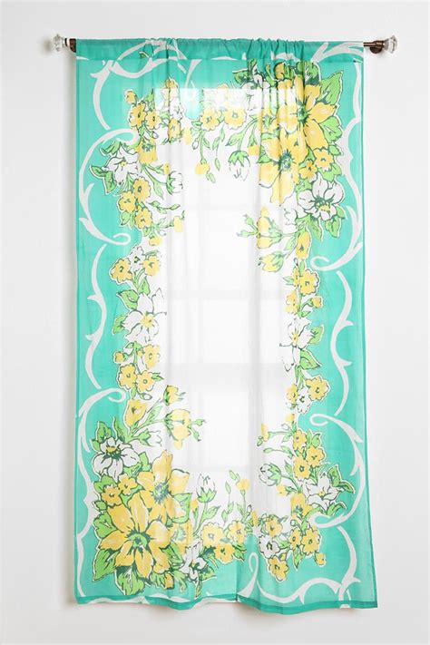 plum bow floral hanky curtain