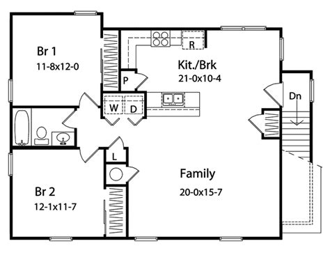 baiting hollow apartment home plan 058d 0140 house plans