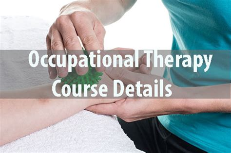 Occupational Therapy Courses Details Eligibility