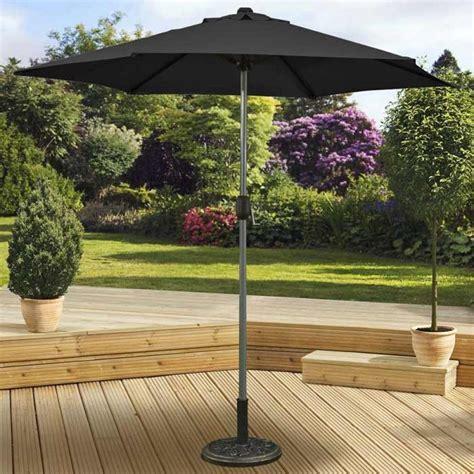 pagoda aluminium pole garden outdoor patio crank and tilt parasol 2 5m black ebay