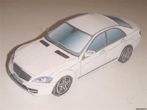 Mercedes-benz W221 [atlantic3d] из бумаги, модели бумажные