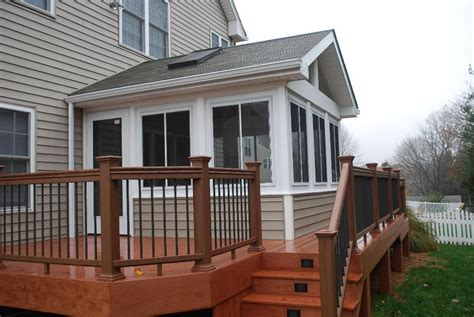 Sunroom And Deck Addition  Raleigh Sunroom Builder