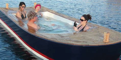Hot Tub Boat Rental Seattle by Cast Off In Hot Tub Boat Pool And Spa Scene