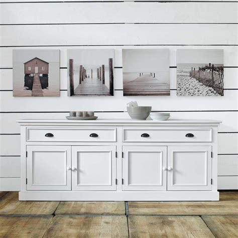 buffet en bois blanc l 200 cm newport maisons du monde deco maison du monde