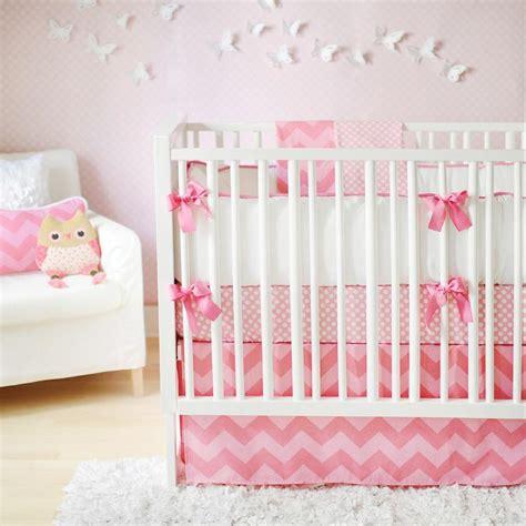 Pink Crib Bedding by Pink Chevron Crib Bedding Nursery