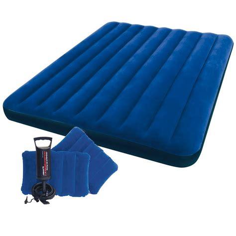 intex airbed air mattress up bed 2 pillows size ebay
