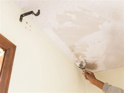 how to remove a popcorn ceiling how tos diy
