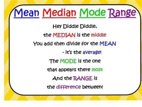 riddle median mode range