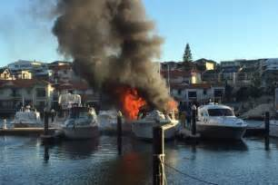 X Fire Boat by Mindarie Marina Fire Three Boats Damaged In Blaze Abc