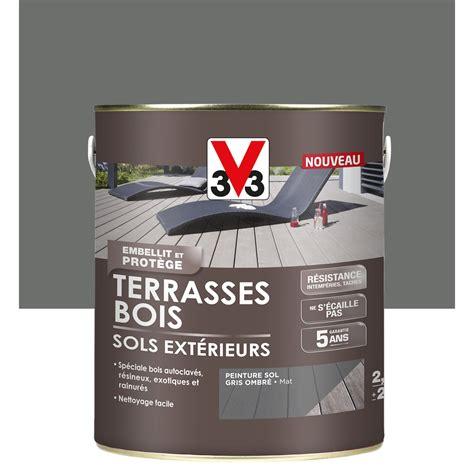 peinture sol ext 233 rieur terrasse bois v33 gris ombr 233 2 5l leroy merlin