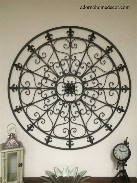 large wrought iron wall decor rustic scroll fleur de lis antique vintage