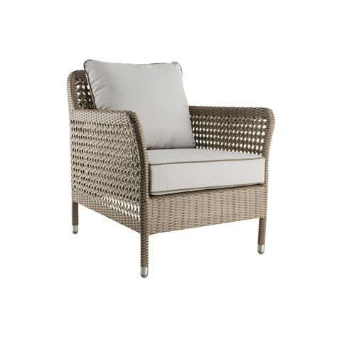 fauteuil de salon de jardin en r 233 sine tress 233 e brin d ouest