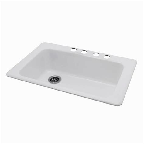 shop american standard silhouette 22 in x 33 in white heat single basin porcelain drop in or