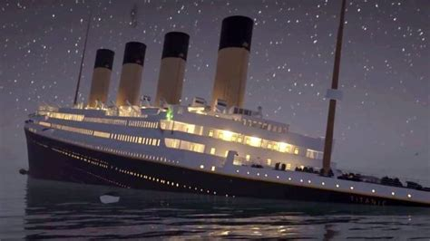 viral real time animation of titanic sinking