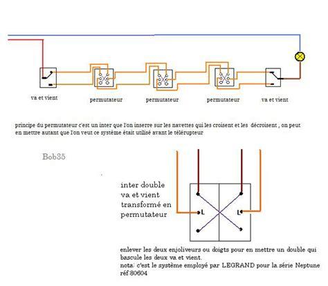 brancher 2 points lumineux avec 4 interrupteurs conseils branchement 233 lectrique