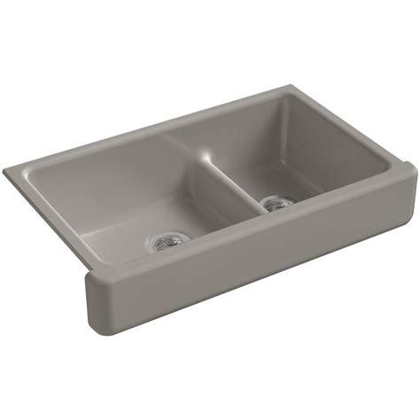kohler whitehaven undermount apron front cast iron 30 in single bowl kitchen sink in k