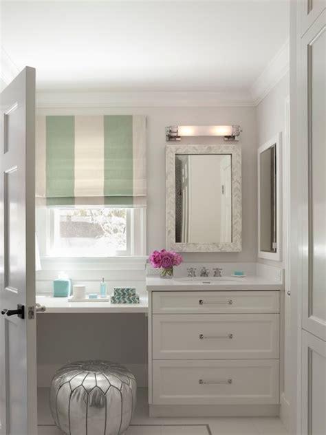 floating make up vanity contemporary bathroom lowengart interiors