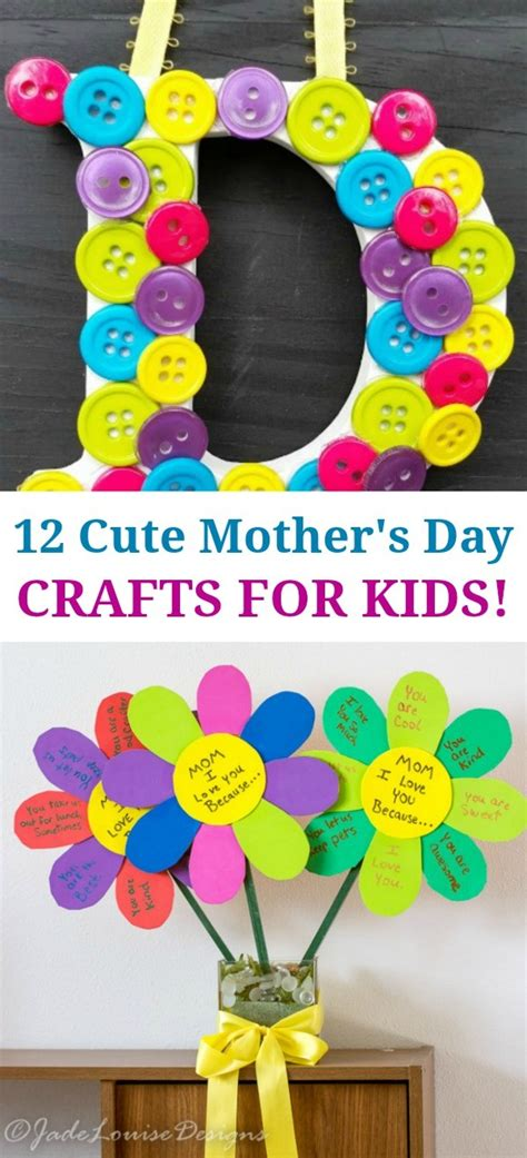 12 Super Cute Mothers Day Crafts For Kids  Such Great