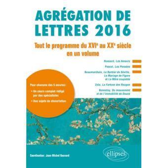 programme agregation lettres modernes 2015 28 images agr 233 gation le programme de litt 233