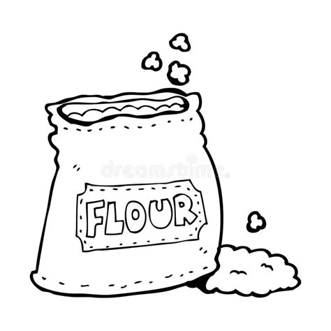 Cartoon Bag Of Flour Stock Illustration Illustration Of