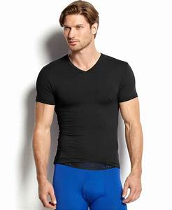 Polo ralph lauren Men's Microfiber V-neck T-shirt in Black ...