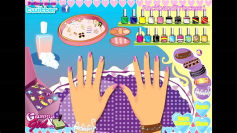 Barbie Nail Polish Salon Manicure Makeover Games Online