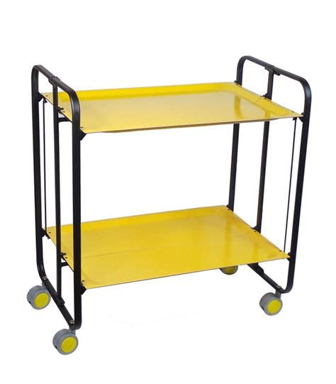 rolling and folding yellow table and black chassis 3 wadiga