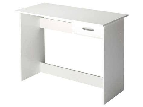 bureau 1 tiroir alpin coloris blanc vente de bureau conforama