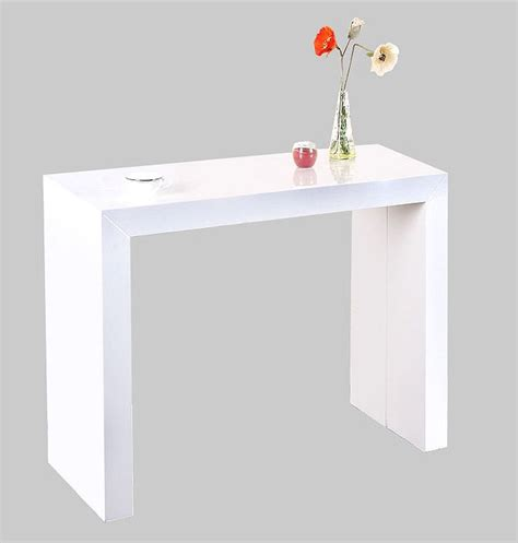 table console laque blanc