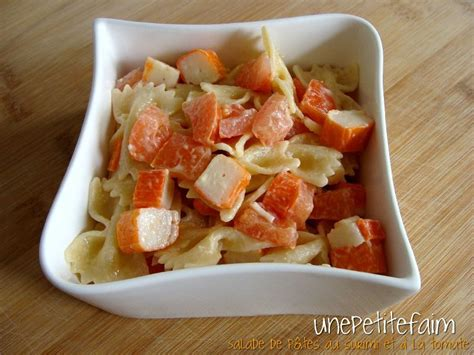 salade de p 226 tes au surimi et 224 la tomate une faim