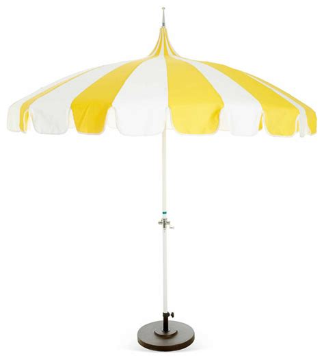 pagoda patio umbrella yellow contemporary outdoor umbrellas by one
