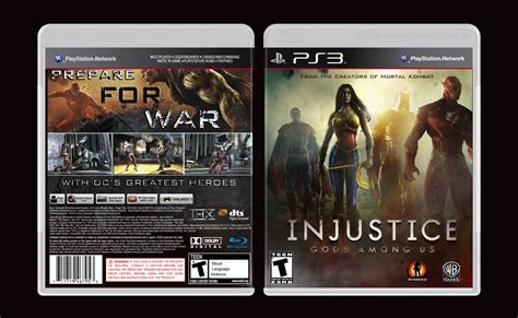 injustice gods among us cover injustice gods among us playstation 3 box art cover by
