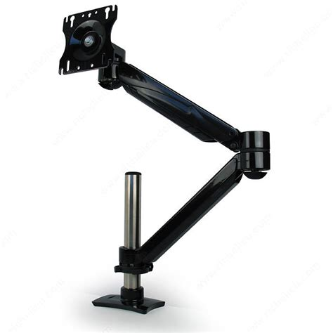 single arm lcd flat panel desk mount single screen extension height adjustable