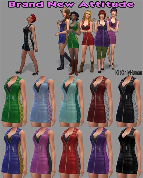 Brand New Attitude Outfit By Kitonlyhuman At Simsworkshop