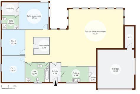 plan maison avec piscine interieure denis design