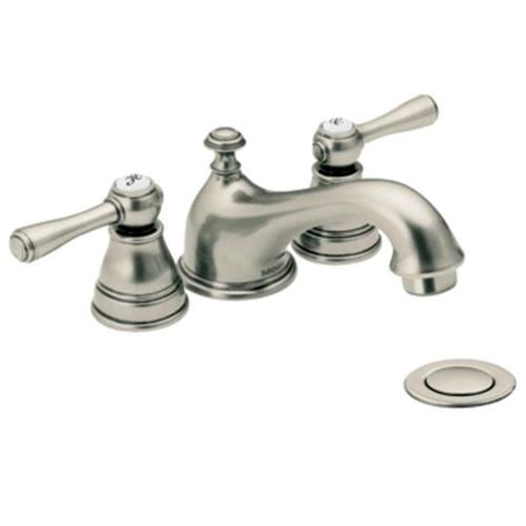 antique nickel two handle low arc bathroom faucet t6103an