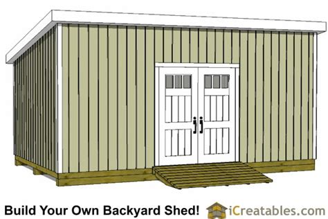 12x24 Barn Shed Plans by 12x24 Lean To Shed Plans Build A Large Lean To Shed