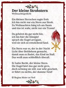 Wann Beginnt Die Weihnachtszeit : der kleine strohstern gedicht winterzeit ~ Markanthonyermac.com Haus und Dekorationen