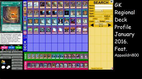 yugioh gravekeeper regional deck profile january 2016 post bosh featuring appsaldri800