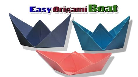 Origami Boat Video by Origami Boat Tutorial How To Make Origami Boat Folding