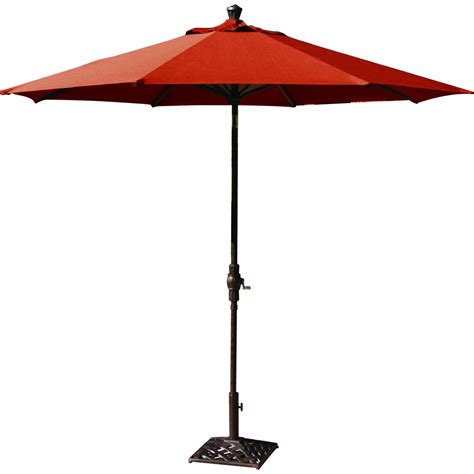 darlee 9 ft aluminum auto tilt patio market umbrella paprika ultimate patio